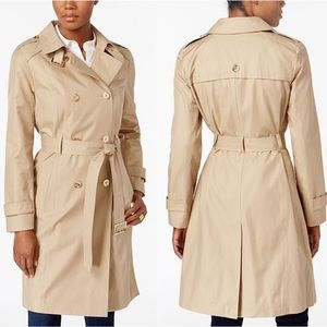 Michael Kors Double-Breasted Trench Coat Size S